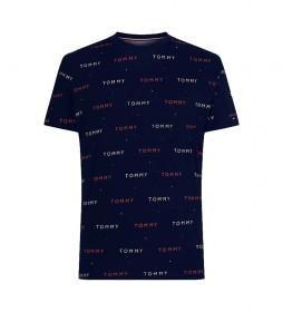 Camiseta con Bordado Intgegral de Logos marino