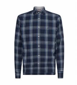 Camisa TH Flex Dobby Check marino