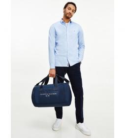 Camisa Slim 1985 Solid azul