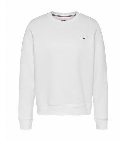 Sudadera Regular Fleece C Neck blanco
