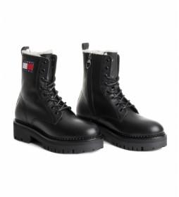 Botas de piel Lace up negro