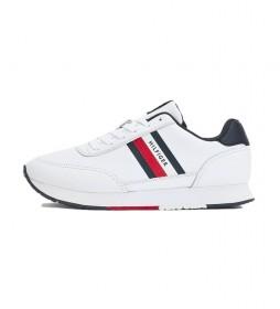 Zapatillas de piel Essential Runner Stripes blanco