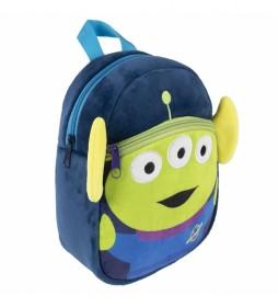 Mochila  Peluche Toy Story verde, azul -18x22x8cm-
