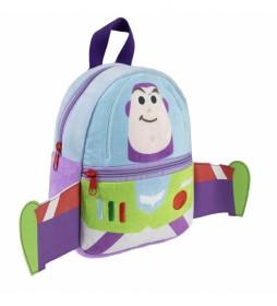 Mochila Peluche Toy Story Buzz Lightyear azul -18x22x8cm-
