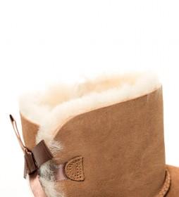 Botas de piel W Mini Bailey Bow II chestnut