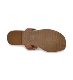 Sandalias de piel Gaila marrón