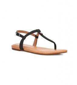 Sandalias de piel W Madeena negro