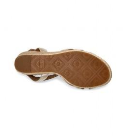 Sandalias de piel Melissa Metallic dorado -Altura cuña: 9,2 cm-