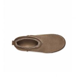Botines de piel Classic Femme Mini -taupe Altura cuña: 5cm-