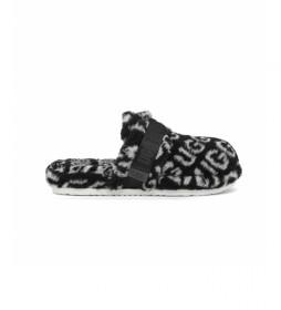 Zapatillas  de casa Fluff It negro, blanco