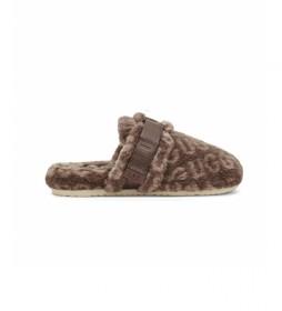 Zapatillas de casa Fluff It Pop marrón