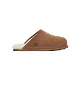 Zapatillas de casa de piel Hyde marrón