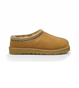 Zapatillas de casa de piel Tasman marrón