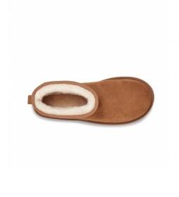 Botines de piel Classic Mini Side Logo marrón