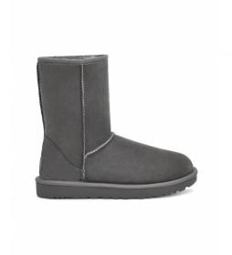 Botas de piel Classic Short II gris