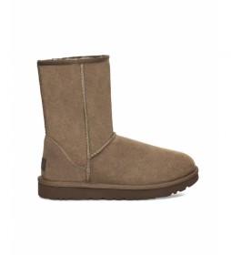Botas de piel Classic Short II marrón nuez