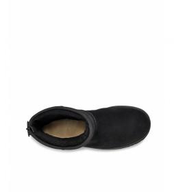 Botas de piel Classic Short Logo Zip negro