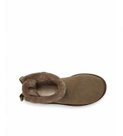 Botines de piel Mini Bailey Bow II negro marrón nuez