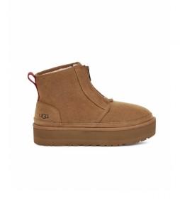 Botas de piel Neumel Platform Zip marrón