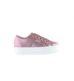 Zapatillas Barcelona Lona Metalizada rosa