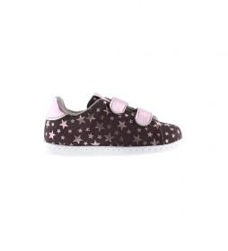 Zapatillas Velcro Estrellas lila