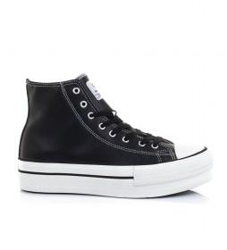 Zapatillas Chicago negro-altura plataforma: 4cm-