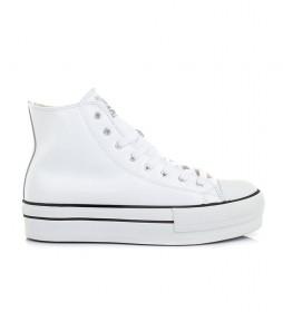 Zapatillas Chicago blanco -altura plataforma: 4cm-
