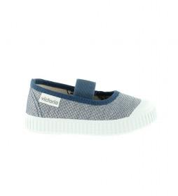 Zapatillas Bailarina azul