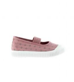 Zapatillas Bailarina estrellas rosa