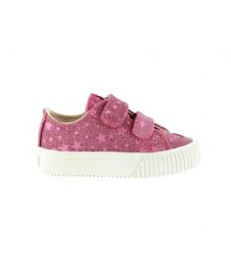 Zapatillas Tribu Tiras Estrellas rosa