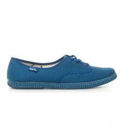 Zapatillas de lona azul