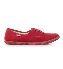 Zapatillas de lona rojo