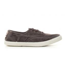 Zapatillas efecto lavado marrón