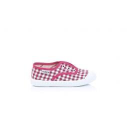 Zapatillas Inglesa Elástico Vichy rosa