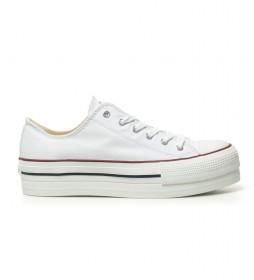 Zapatillas estilo basket blanco -Altura plataforma: 4 cm-