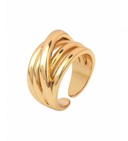Anillo Essentials Oro tiras dorado