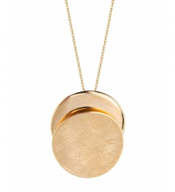 Colgante Textures doble círculo oro 18Ktes
