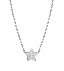 Collar Candy Plata estrella circonitas plateado