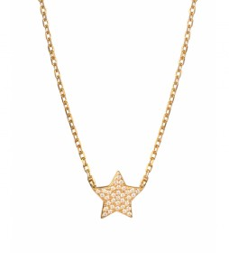Collar Candy Plata estrella circonitas dorado