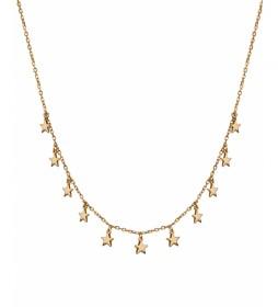 Collar Candy Plata estrellas lisas dorado