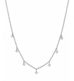 Collar Essentials circonitas colgantes plata