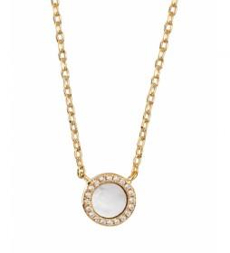 Collar Essentials Madre perla y circonitas oro 18Ktes