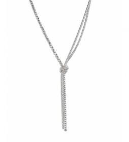 Collar Essentials tres cadenas plata
