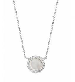 Collar Essentials circonitas y madre perla plata