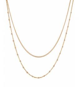 Collar Essentials corazones oro 18kts