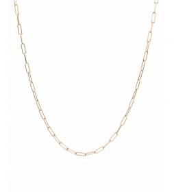Collar Essentials Plata eslabones medianos dorado