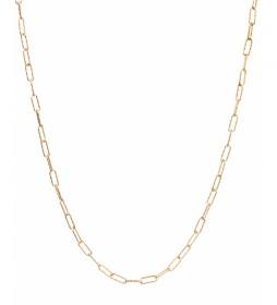 Collar Essentials Plata eslabones medianos grabados dorado