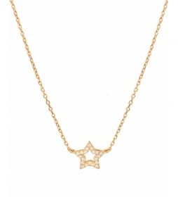 Collar Essentials Plata estrella circonitas dorado