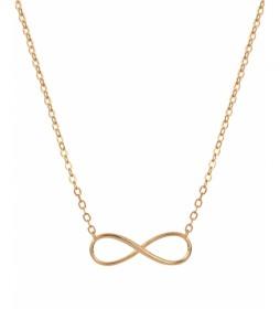 Collar Essentials Plata infinito cadena dorado