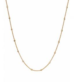Collar Essentials Plata motivos cuadrados dorado